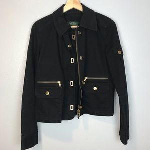 NWOT Lauren Ralph Lauren Black Denim Jacket